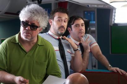 Javier Cámara y Carlos Areces burlándose de su director, a mis espaldas.